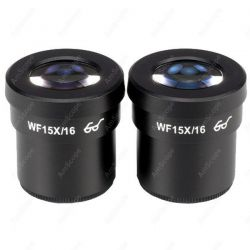 Microscope Eyepiece-AmScope Supplies Pair of Extreme Widefield 15X Eyepieces (30mm)