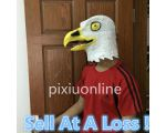 1pcs/lot DS36b Eagle 3D Vinyl Mask Artificial Eagle Head Vinyl Mask Halloween Costume Eagle Full head Mask  Sell At A Loss USA
