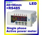 48*96mm LED digital Active power meter single phase Class 0.5 ac digital power meter with RS485