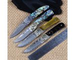 IKIV folding knife Ball Bearing Folding Knife Damascus Blade Abalone Handle Knives Camping Hunting Survival  knife