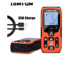 LOMVUM 100m new USB charge electronic Level 40M Laser Rangefinders Digital Laser Distance Meter calculation distance measurer